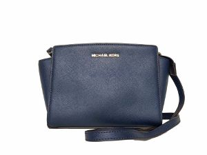 Michael Kors Navy Blue Selma Crossbody