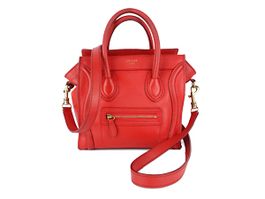 SOLD OUT Celine Nano Red Drummed Leather