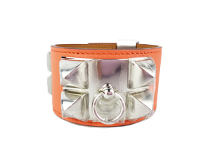 BRAND NEW Hermes Collier de Chien (CDC) Bracelet - Orange