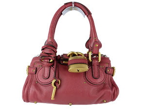 Chloe Chloe Mini Paddington Handbag Red Leather