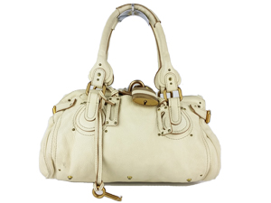 SOLD OUT Chloe Cream Leather Paddington Shoulder Bag