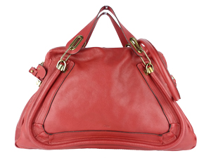 Chloe Paraty Oxhide Red Tote Bag