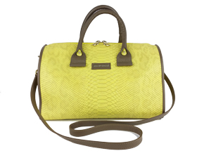 Chloe See By Chloe Yellow Embossed Leather April Duffel