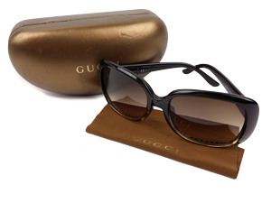SOLD OUT Gucci GG Black Diamond Polarized Sunglasses