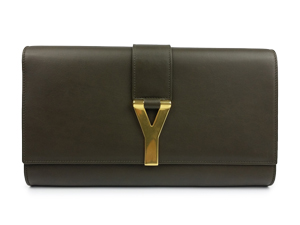 SOLD OUT YSL Yves Saint Laurent Leather Sac Ligne Y Clutch