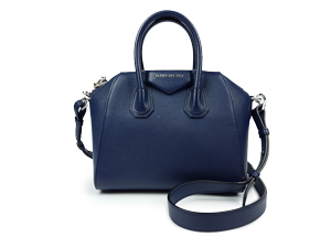 SOLD OUT Givenchy Antigona Mini Leather Satchel Bag in Dark Blue