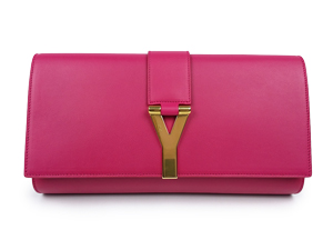 YSL Yves Saint Laurent Leather Sac Ligne Y Clutch