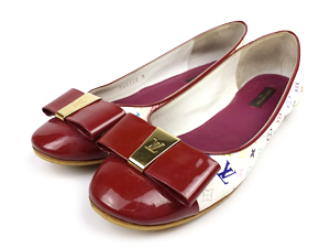 Louis Vuitton Multicolor Bow Leather Flats