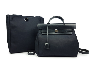 Hermes HerBag Backpack With Black Leather