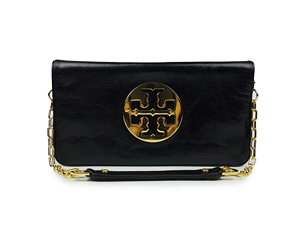 SOLD OUT Tory Burch Black Leather Reva Clutch Bag