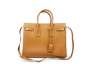 SOLD OUT YSL Yves Saint Laurent Sac De Jour Bag In Brown Leather