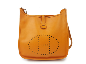 Hermes Evelyne PM Orange With Silver Hardware