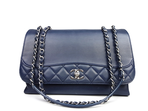 Chanel Blue Calfskin Flap Bag WSH