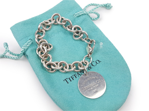 SOLD OUT Tiffany & Co Sterling Silver Return to Tiffany Round Tag Charm Bracelet