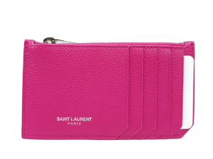 SOLD OUT BRAND NEW YSL Yves Saint Laurent Calfskin Fragments Zip Pouch