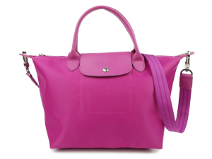 Longchamp Le Pliage Pink Neo Top Handle Small