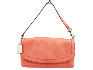 Coach Pink Leather Large Wristlet