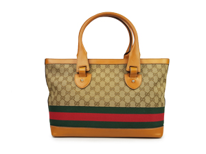 Gucci Heritage Brown Leather Tote Bag