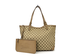 Gucci Craft Canvas Tote w/ Pouch