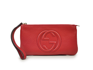Gucci Red Soho Wristlet