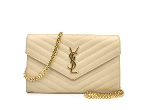 Ysl Yves Saint Laurent Monogram Chain Wallet