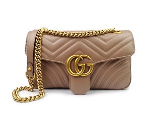 Gucci Dusty Pink GG Marmont Matelasse Shoulder Bag