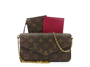 Louis Vuitton Monogram Felicie Chain Wallet