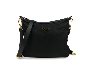 Prada Black Tessuto Nylon Sling Bag 1BH706
