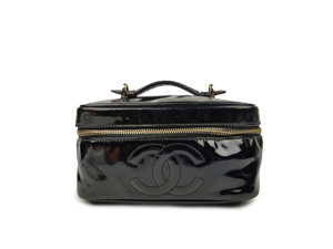 Chanel Black Vintage Vanity Case