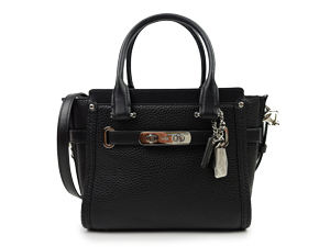 Coach Swagger 21 Pebble Leather Carryall Satchel Bag 37444