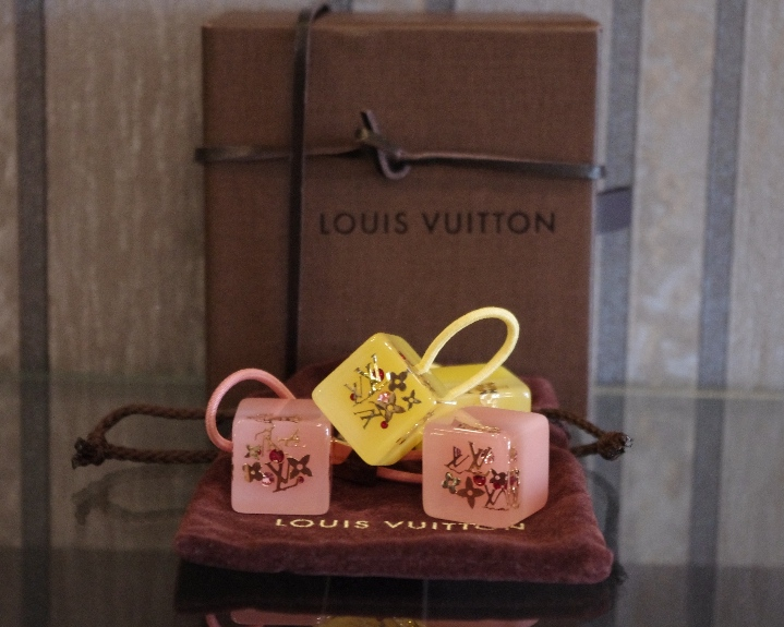 LouisVuitton Hair Cube Pink And Yellow
