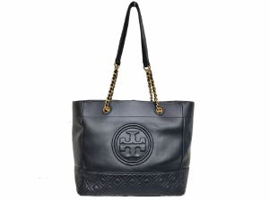 SOLD OUT Tory Burch Black Fleming Chain Leather Tote Bag