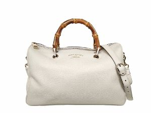 Gucci Bamboo Shopper Leather Boston Bag
