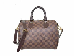 SOLD OUT Louis Vuitton Damier Ebene Speedy Bandouliere 25